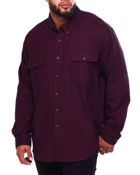 Chaps - Bushed Twill H-Fashion L/S Sport Shirt (B&T)