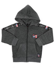 Sizes 2T-4T - Toddler - Full Zip Fleece Hoodie W/ Poly Taped (2T-4T)-2421607