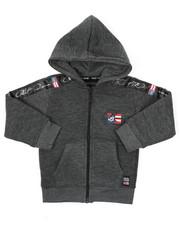 Hoodies - Full Zip Fleece Hoodie W/ Poly Taped (2T-4T)-2421607