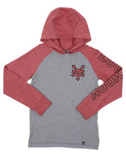 Sizes 8-20 - Big Kids - Long Sleeve Raglan Hooded Tee (8-20)-2421580