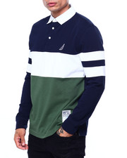 Mens-Fall - CHEST STRIPE LS RUGBY-2421655