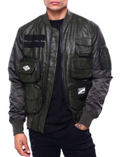 Mens-Fall - Wax Coated Tactical Jacket-2421913