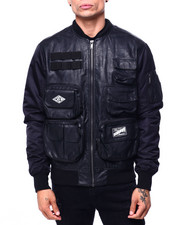 Mens-Fall - Wax Coated Tactical Jacket-2421918
