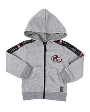 Sizes 2T-4T - Toddler - Full Zip Fleece Hoodie W/ Poly Taped (2T-4T)-2421611
