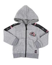 Hoodies - Full Zip Fleece Hoodie W/ Poly Taped (2T-4T)-2421611