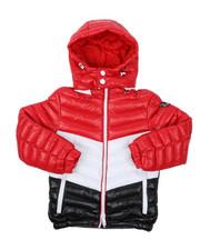 Sizes 8-20 - Big Kids - Tri Color Bubble Jacket (8-20)-2422339