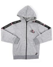 Sizes 8-20 - Big Kids - Full Zip Fleece Hoodie W/ Poly Taped (8-20)-2421674