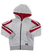 Hoodies - Full Zip Fleece Hoodie W/ Poly Taped (4-7)-2421602