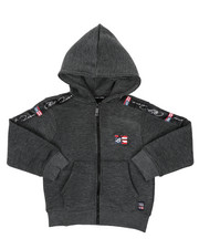 Hoodies - Full Zip Fleece Hoodie W/ Poly Taped (4-7)-2421624