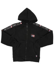 Sizes 8-20 - Big Kids - Full Zip Fleece Hoodie W/ Poly Taped (8-20)-2422151