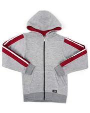 Sizes 8-20 - Big Kids - Full Zip Fleece Hoodie W/ Poly Taped (8-20)-2422131
