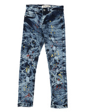 Arcade Styles - Stretch Paint Splatter Jeans (8-20)-2422239