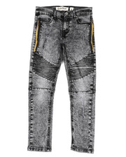 Sizes 8-20 - Big Kids - Stretch Biker Jeans (8-20)-2422232