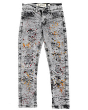 Arcade Styles - Stretch Paint Splatter Jeans (8-20)-2422246