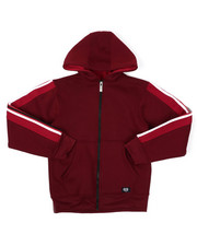 Sizes 8-20 - Big Kids - Full Zip Fleece Hoodie W/ Poly Taped (8-20)-2422146