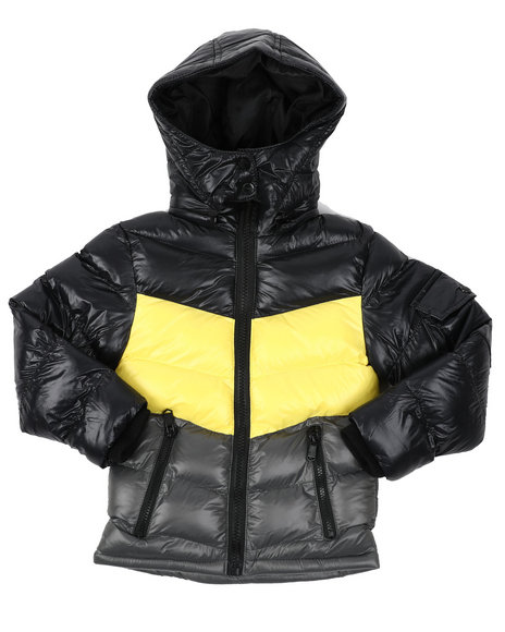 Arcade Styles - Color Block Nylon Bubble Jacket (4-7)