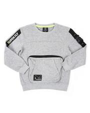 SWITCH - Long Sleeve Pullover W/ Big Pocket & Buckle Belt Detail (8-20)-2422572