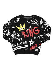 Boys - King Multi Printed Pullover W/ Chenille Crown (8-20)-2422587