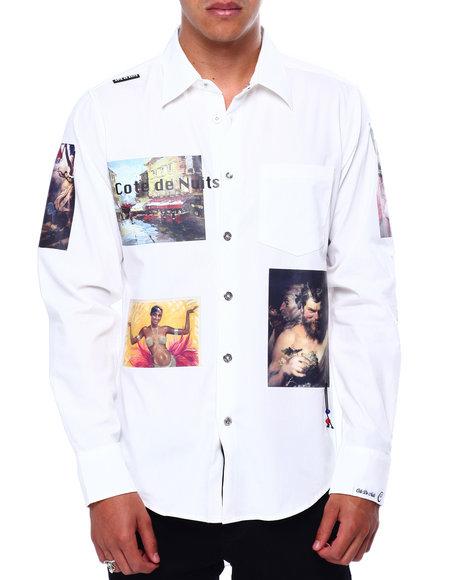 Cote De Nuits - Graphic Patch  Button down Shirt