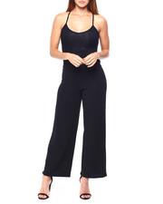 Almost Famous - Lace Cami Jumpsuit W/Lace Back-2422110