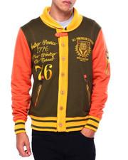 Varsity Jackets - COWLNECK VARSITY SWEATSHIRT-2422422