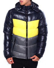 Light Jackets - CHEVRON PUFFER COAT-2422658