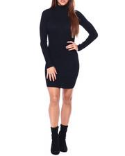 Casual - L/S Mock Nk Rib Mini Dress-2422773