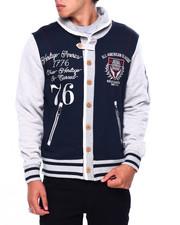 Varsity Jackets - COWLNECK VARSITY SWEATSHIRT-2422464