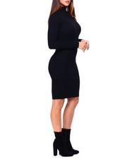 Women - L/S Mock Nk Rib Midi Dress-2422469