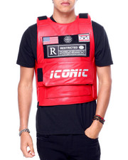 Men - PU Restricted Icon Vest-2416020