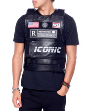 Men - PU Restricted Icon Vest-2416019