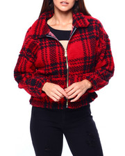 Outerwear - L/S Sherpa Plaid Jacket-2422800