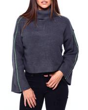 Women - Melange Shaker Sponge Roll Nk Wide L/S Pullover-2422786