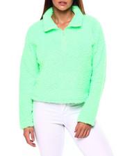 Women - L/S Sherpa Half Zip Cropped Pullover-2422810