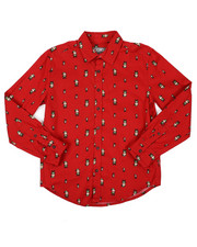 Button-downs - Holiday Long Sleeve Woven Shirt (8-20)-2422837