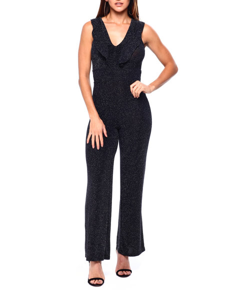 Almost Famous - Ruffle Flounce Jumpsuit