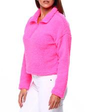 Women - L/S Sherpa Half Zip Cropped Pullover-2422823