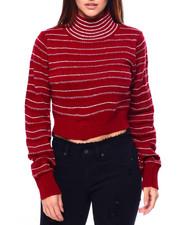 Womens-Winter - Stripe Turtle Nk L/S Crop Pullover-2422828