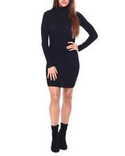Women - Rib Vnk Henley Midi Dress W/ Horn Buttons-2421450