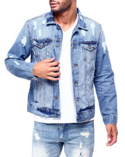 Outerwear - Distressed Denim Jacket B-2423111