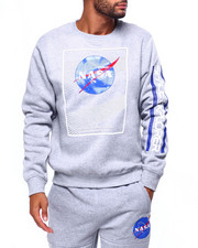 Men - Nasa Gel Detail Crewneck Sweatshirt-2423415