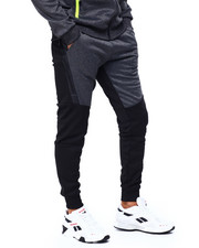 Jeans & Pants - contrast Color Jogger w Zipper Accent-2423550