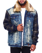 Big & Tall - Makobi Denim Jacket W/P laid Contrast (B&T) -2423206
