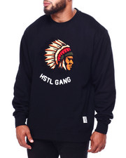 Hustle Gang - Big Chief L/S Crew (B&T)-2423985