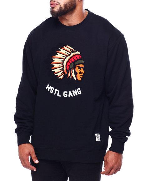 Hustle Gang - Big Chief L/S Crew (B&T)