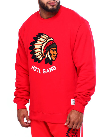Hustle Gang - Big Chief L/S Crew (B&T)
