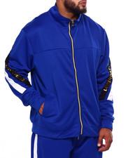 Track Jackets - 3D Flim Embossed Cut & Sew Track Jacket w/ Contrast Zipper Trim (B&T)-2423966