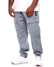 Joggers - Quilted Fleece Jogger w/ Zipper Trim (B&T)-2423155