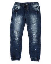 Sizes 8-20 - Big Kids - Moto Denim Jeans (8-18)-2423729