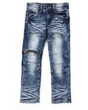 Arcade Styles - Skinny Fit Moto Denim Jeans (4-7)-2423708
